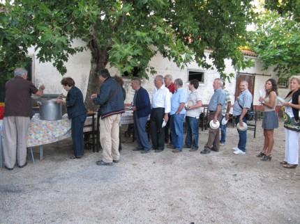 A fila para a sopa