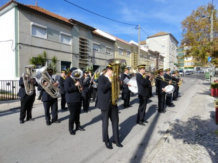 A A. Filarmónica Barrilense à chegada ao Clube R. Feijó