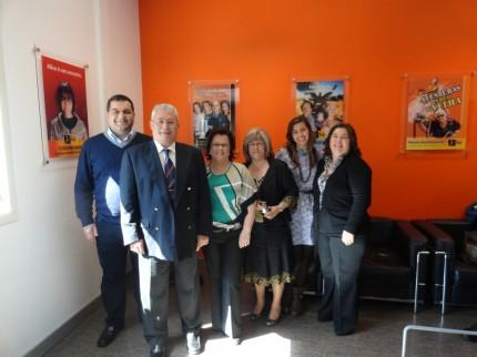 A equipa que foi ao estúdio : António Simões, António Silva (Rouxinol de Pomares) Teresa Neves, Fernanda Carvalho, Cristiana Grácio e Gisela Niz.