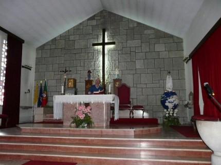 Interior da capela da Base Naval do Alfeite
