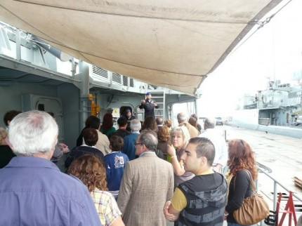 Visita ao navio Bartolomeu Dias