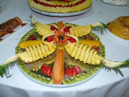 Aspecto apetitoso das mesas