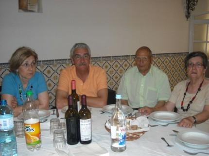 Maria e Fernando Bento, Manuel Grácio Francisco e Maria Arcanja (familiares da Fátima)