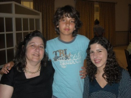 Fátima Lopes com os filhos, a Alice e o Pedro