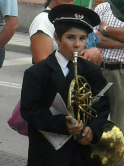 O pequeno André, grande promessa do futuro da Filarmónica, tem as suas raízes no Soito da Ruiva